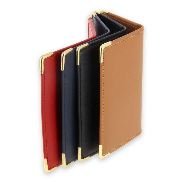 porte-carte cuir 4 couleurs