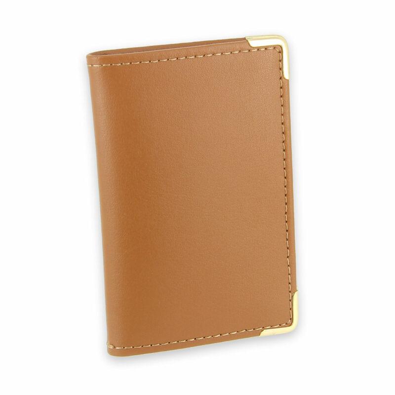 porte-cartes cuir beige gold 2