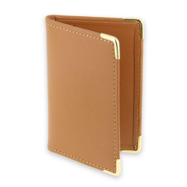 porte-cartes cuir beige gold 1