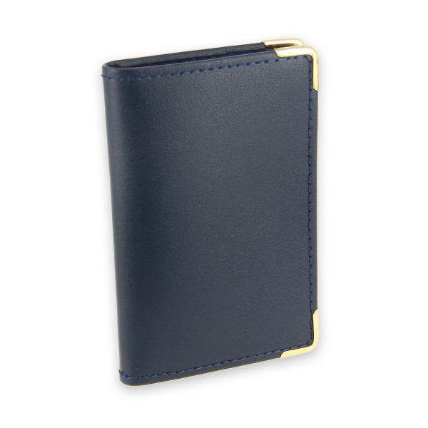 porte-cartes cuir bleu marine 2