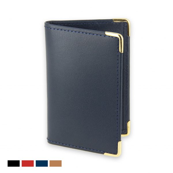porte-cartes bancaires cuir bleu marine