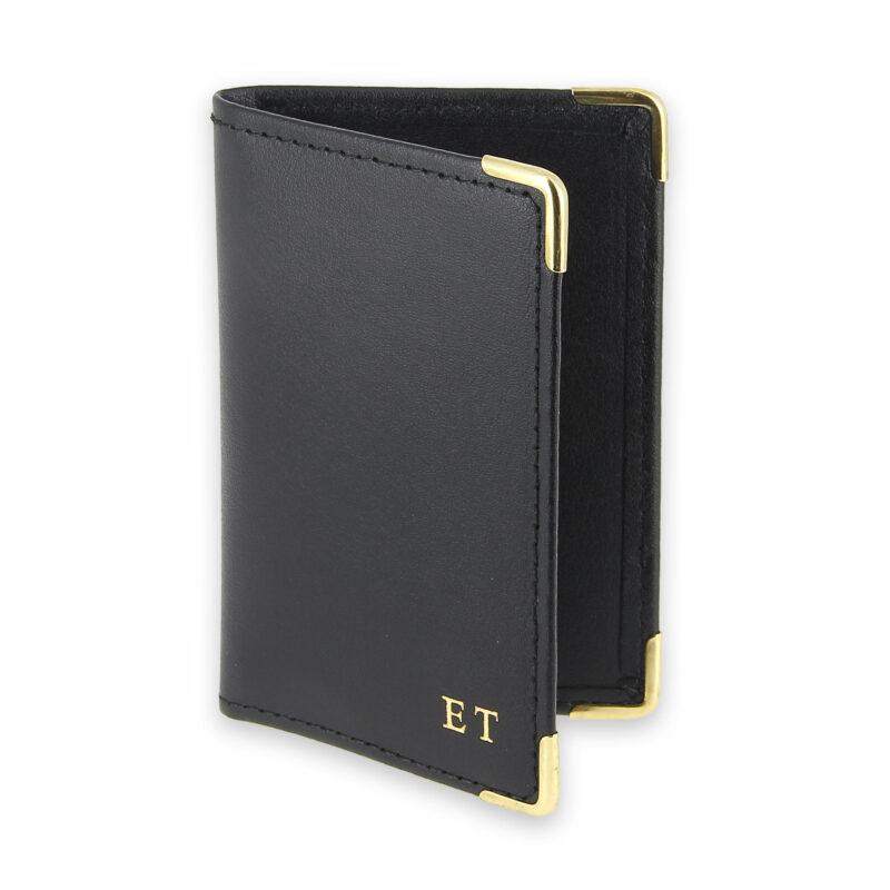 porte-cartes cuir noir init 1