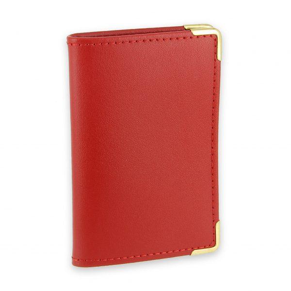 porte-cartes cuir rouge 2