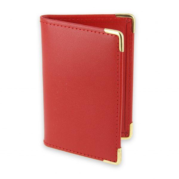 porte-cartes cuir rouge 1