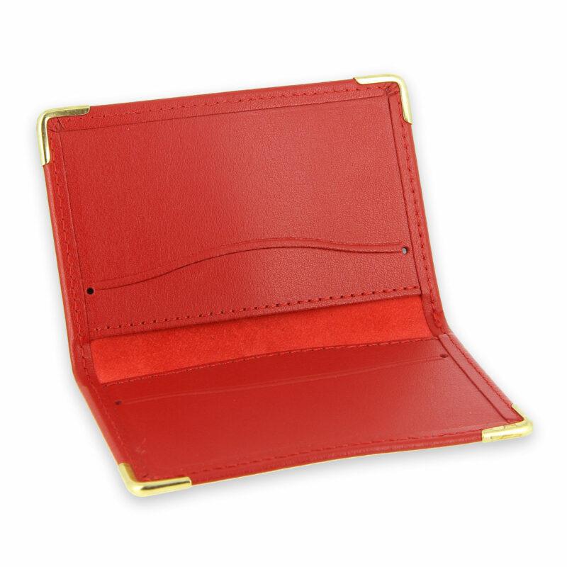 porte-cartes cuir rouge 3