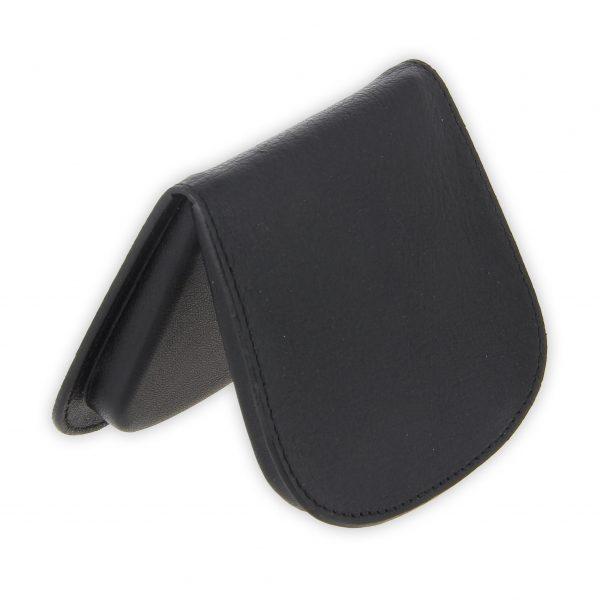 porte monnaie cuir noir sabot de cheval 2