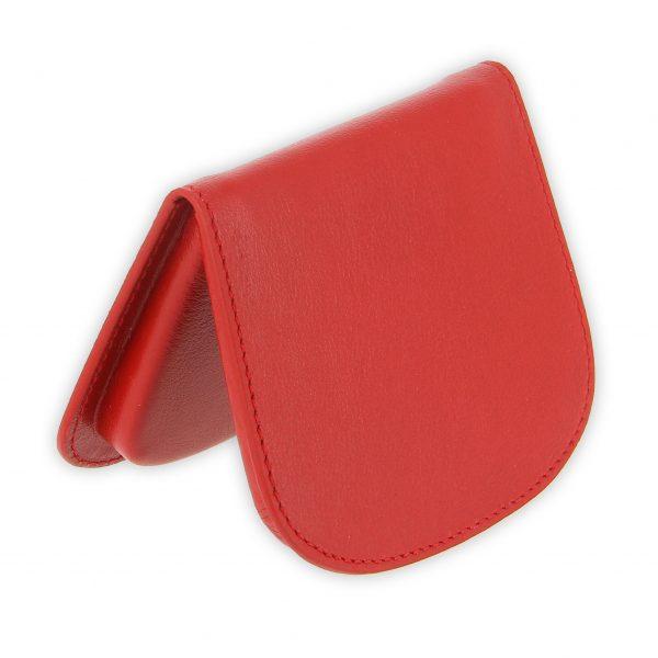 porte monnaie cuir rouge sabot de cheval 2
