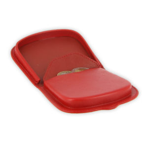 porte monnaie cuir rouge sabot de cheval 4