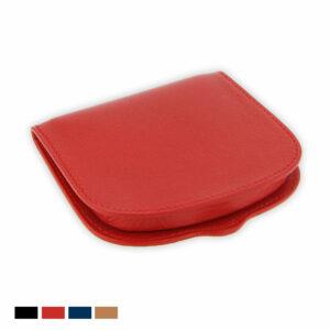 porte monnaie cuir forme sabot de cheval rouge