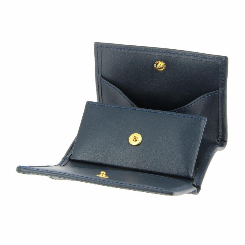 porte monnaie bleu marine cuir 2