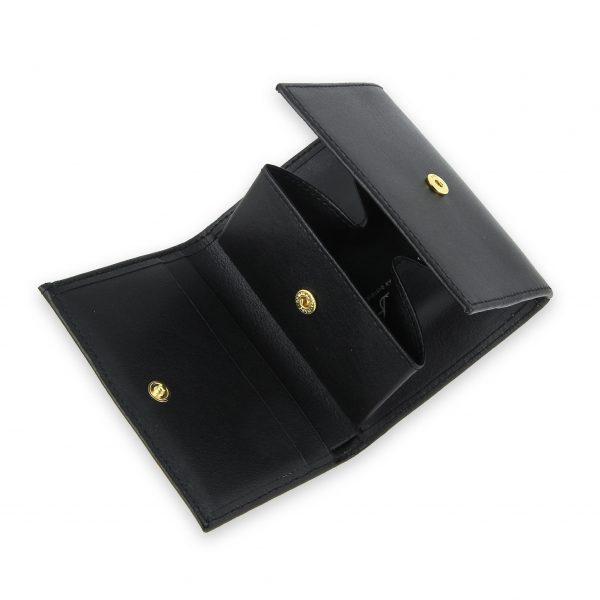 porte monnaie cuir a soufflet noir 3