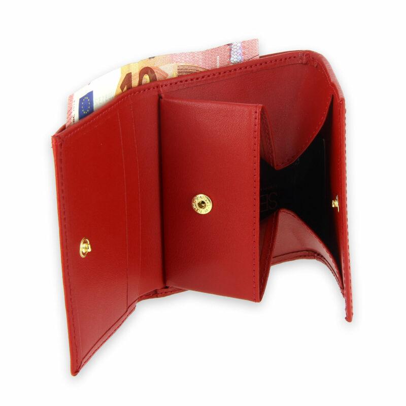 porte monnaie cuir a soufflet rouge 4