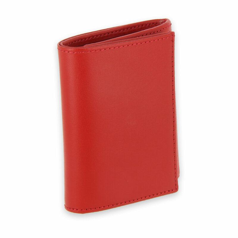 porte monnaie cuir a soufflet rouge 1