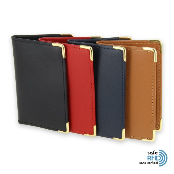 porte carte cuir protection carte sans contact rfid 4 couleurs 2