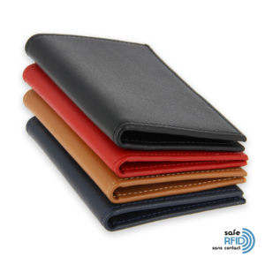 leather card holder 4 card banknote holder leather protection contactless card rfid 4colors