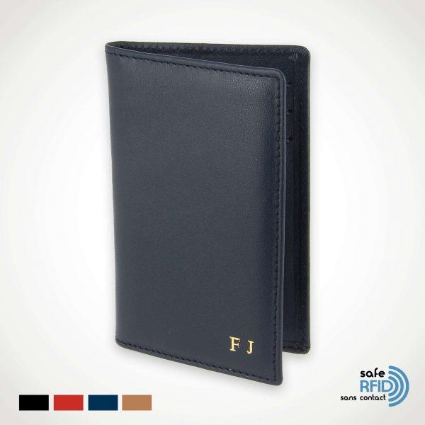Étui anti RFID cuir 6 cartes bancaires Protection carte paiement sans contact RFID