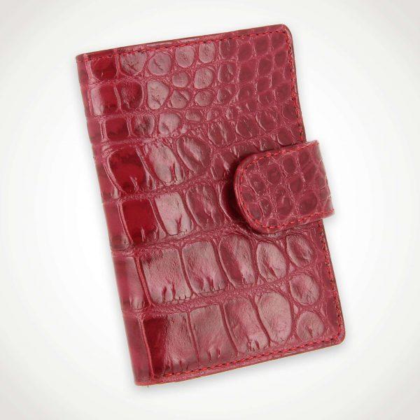 Porte cartes de fidélité façon cuir Croco 18 cartes
