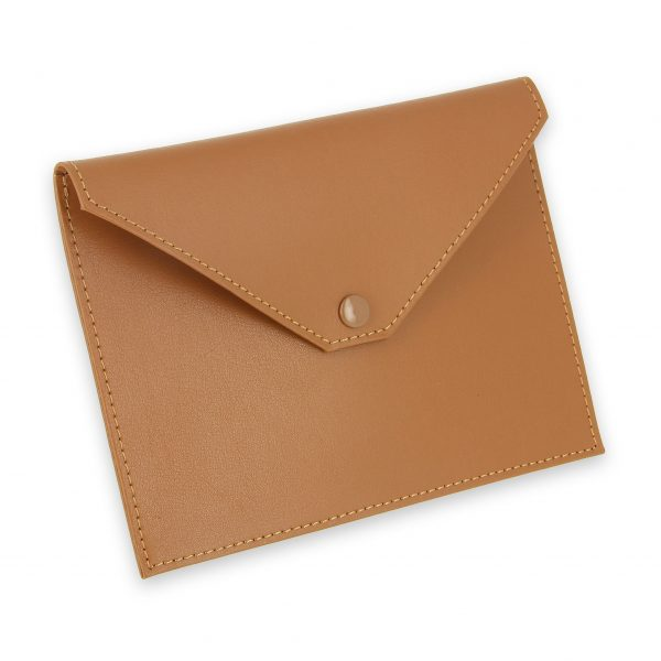 pochette documents cuir beige gold 1
