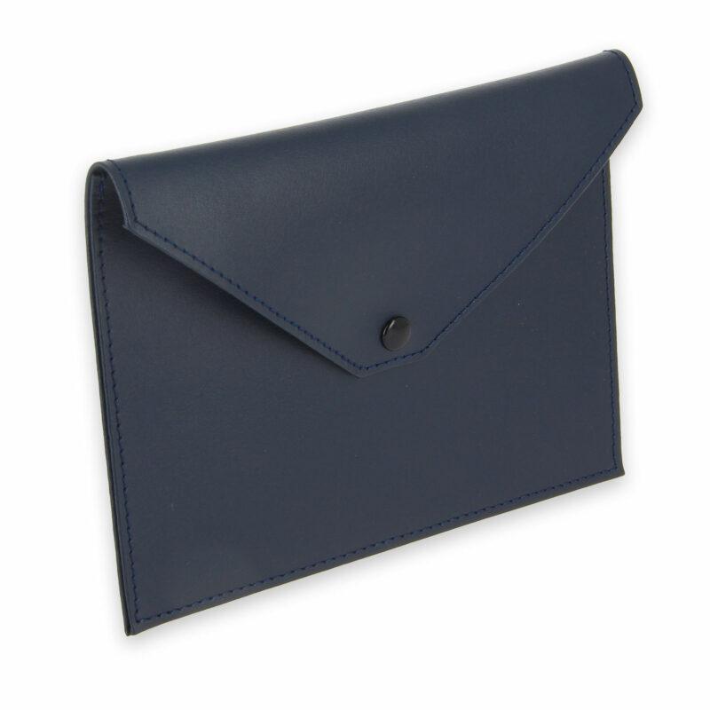 pochette documents cuir bleu marine 1