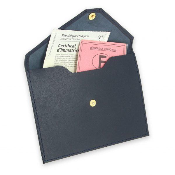 pochette documents cuir bleu marine 3