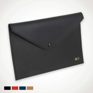 Pochette documents en cuir