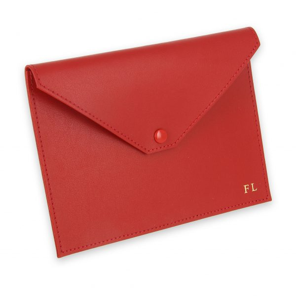 pochette documents cuir rouge 1
