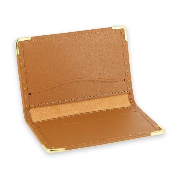 porte cartes cuir protection carte sans contact rfid beige gold 3