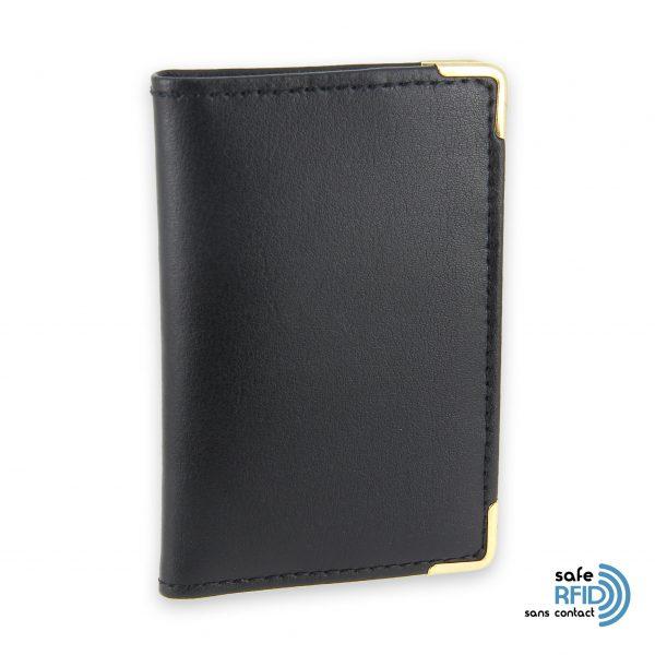 porte cartes cuir noir protection carte sans contact rfid 2