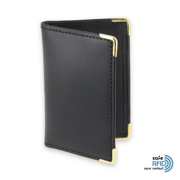 porte cartes cuir protection carte sans contact rfid noir 1