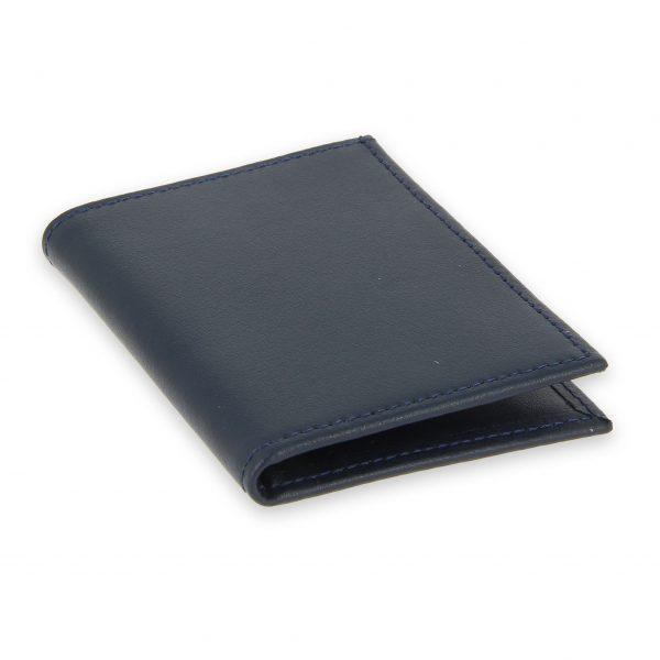 porte-cartes cuir 4 cartes porte-billets bleu marine cuir 2