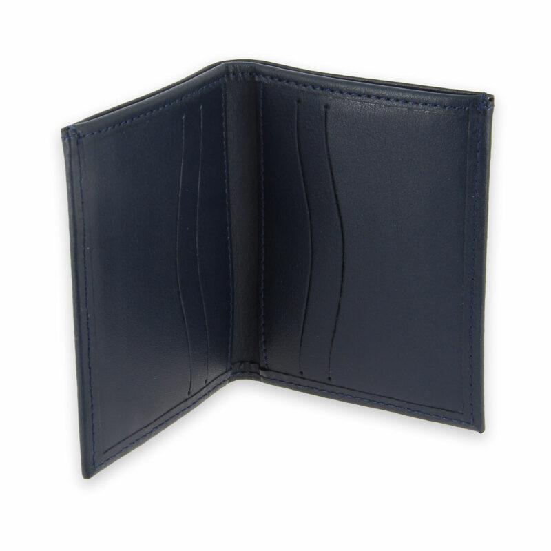 porte-cartes cuir 4 cartes porte-billets bleu marine cuir 3