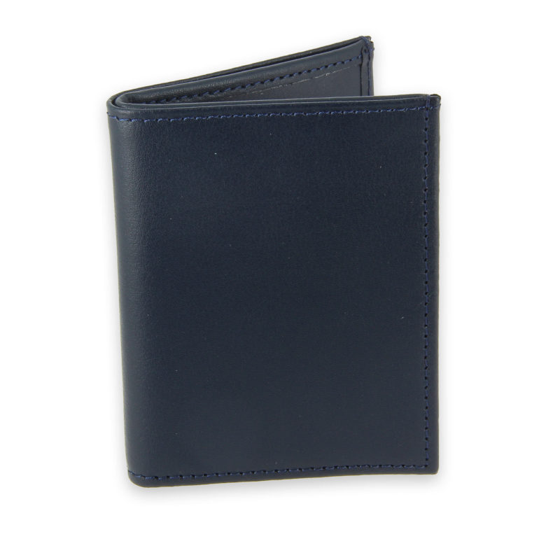 porte-cartes cuir 4 cartes porte-billets bleu marine cuir 1