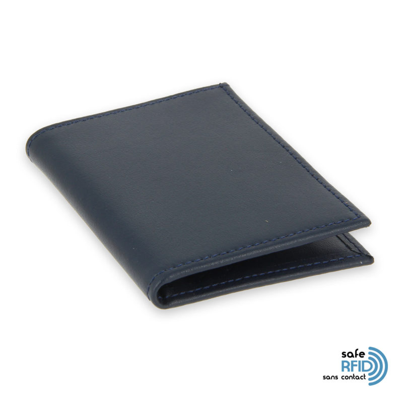card holder leather 4 cards bill holder black leather protection card contactless rfid 2
