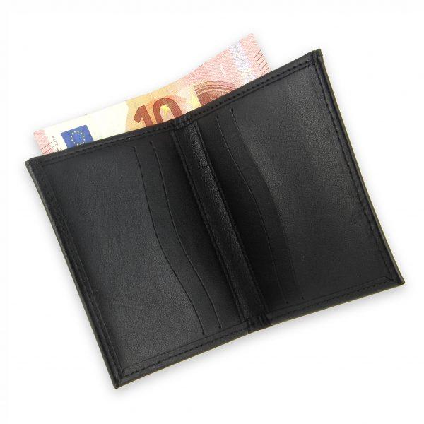 porte-cartes cuir 4 cartes porte-billets noir cuir 4