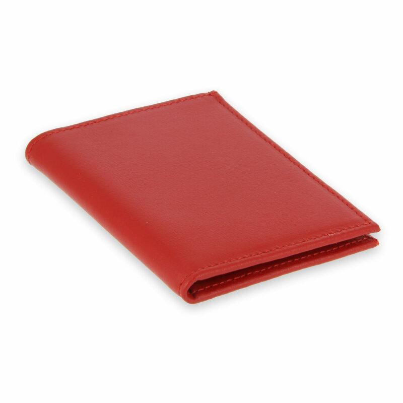 porte-cartes cuir 4 cartes porte-billets rouge cuir 2