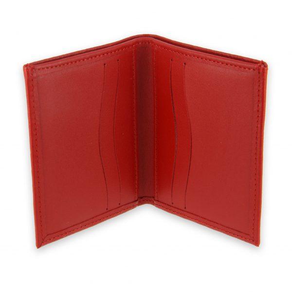 porte-cartes cuir 4 cartes porte-billets rouge cuir 3