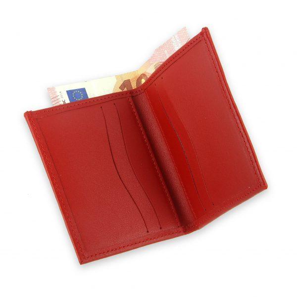 porte-cartes cuir 4 cartes porte-billets rouge cuir 4