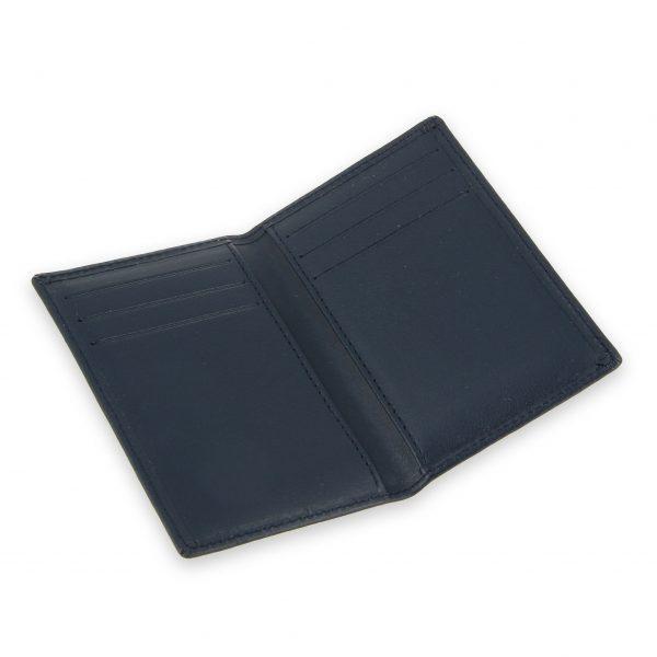 porte-cartes 6 cartes cuir bleu marine 3
