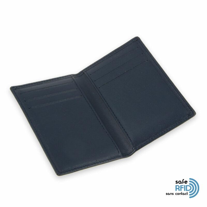porte cartes 6 cartes cuir beige gold protection carte sans contact rfid 3