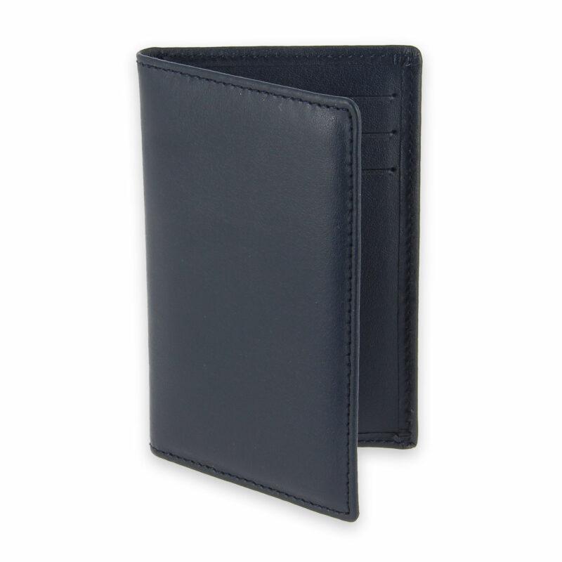 porte cartes 6 cartes cuir bleu marine 1