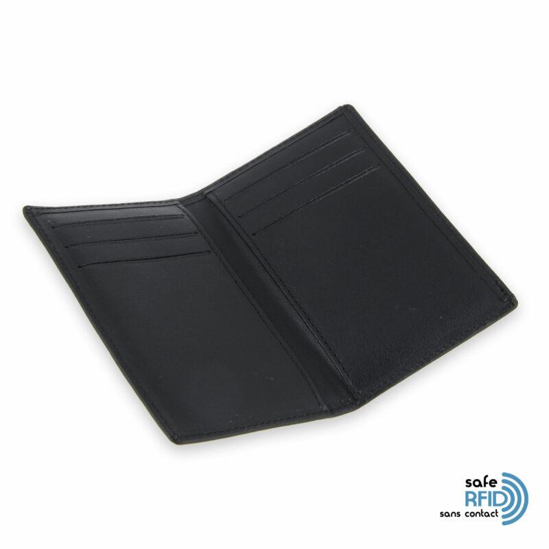 porte cartes 6 cartes cuir noir protection carte sans contact rfid 3