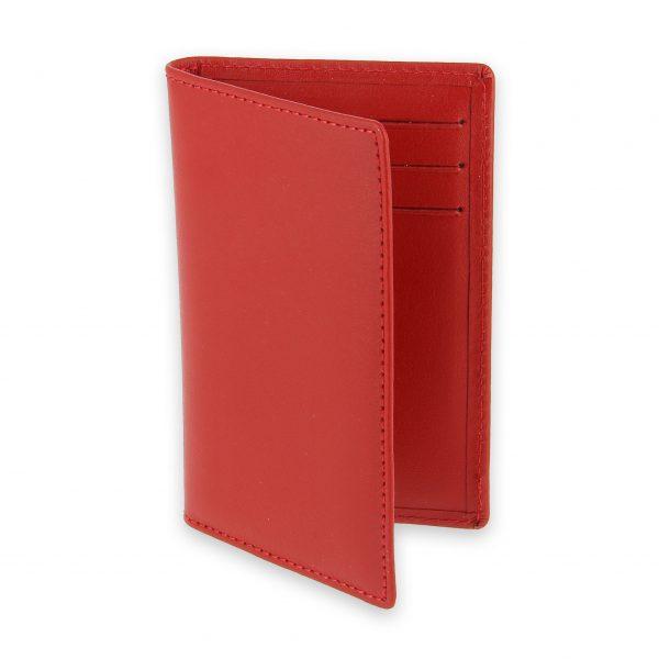 porte cartes 6 cartes cuir rouge 1