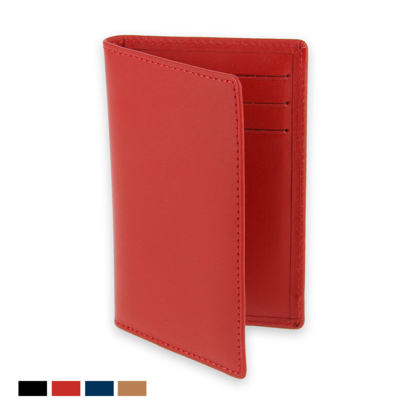 etui 6 cartes bancaires rouge