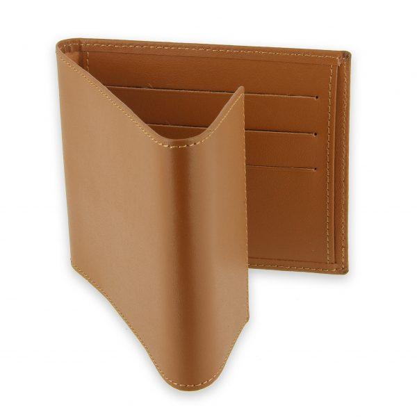 porte chequier pliable cuir beige gold 3 cartes talon gauche 3