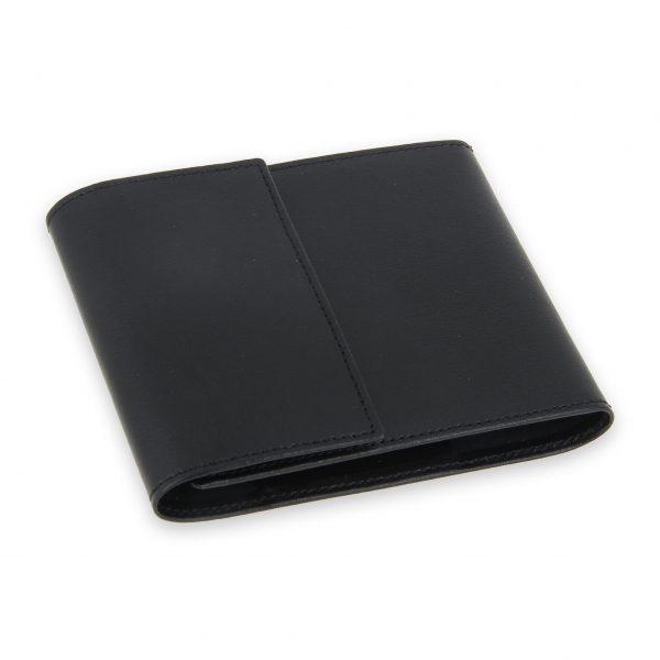 porte chequier pliable cuir noir 3 cartes talon gauche 2