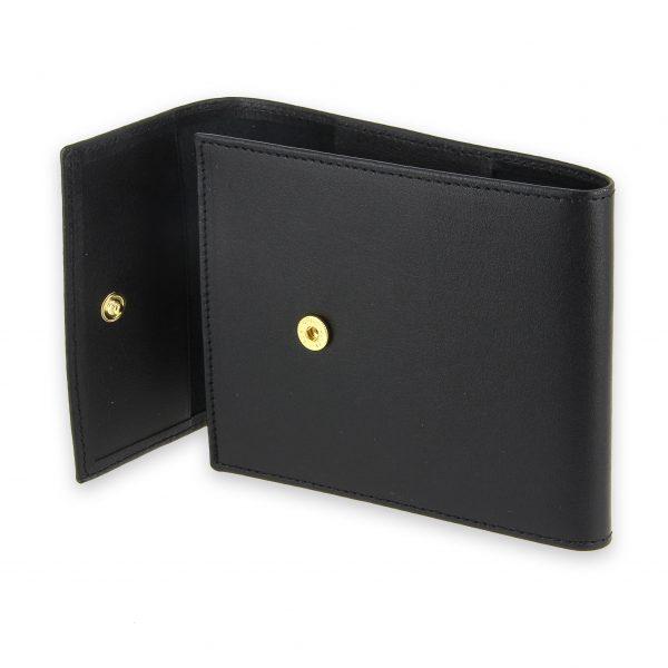 porte chequier pliable cuir noir 3 cartes talon gauche 4