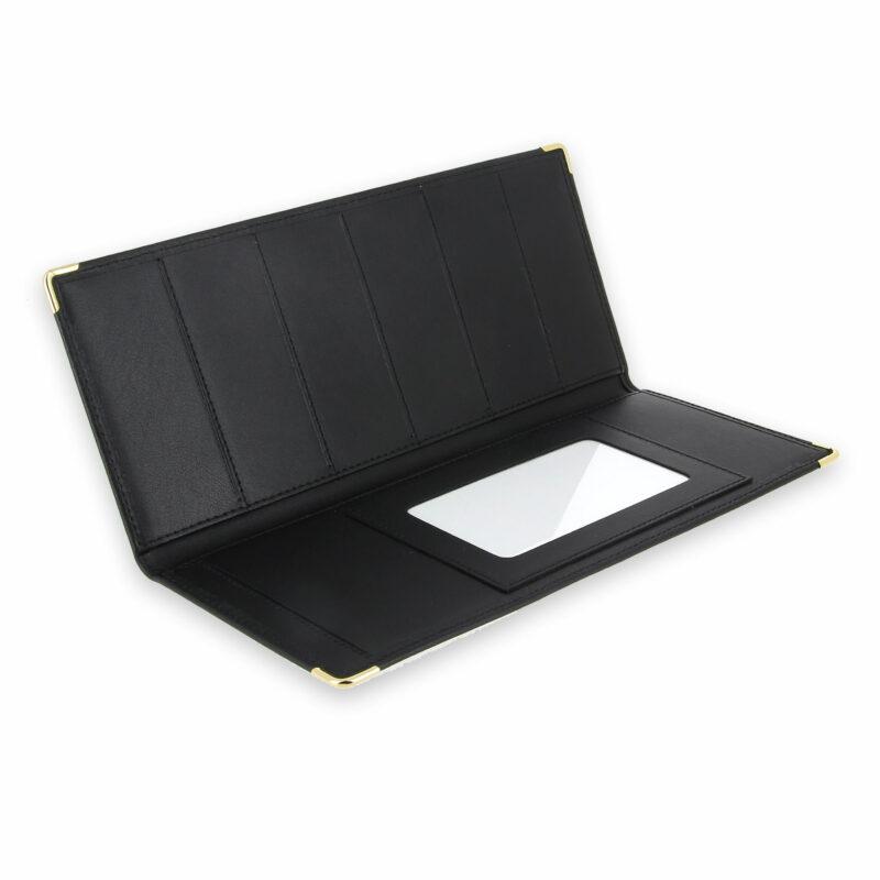 porte chequier cuir classique noir talon gauche 3