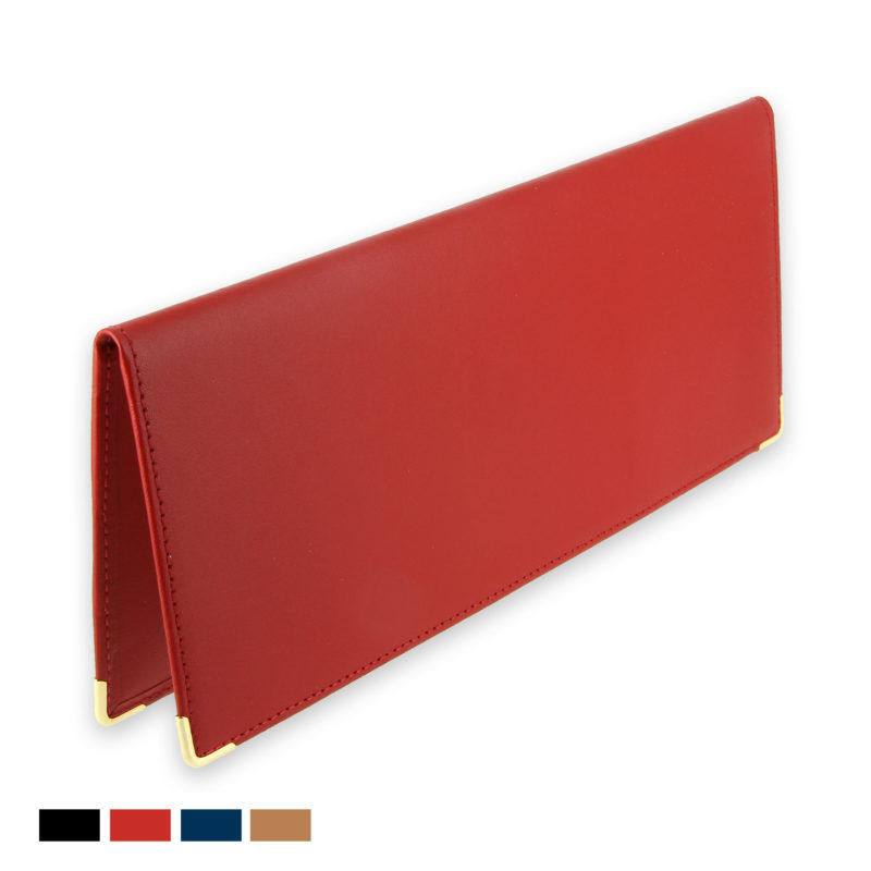 porte chequier cuir classique rouge