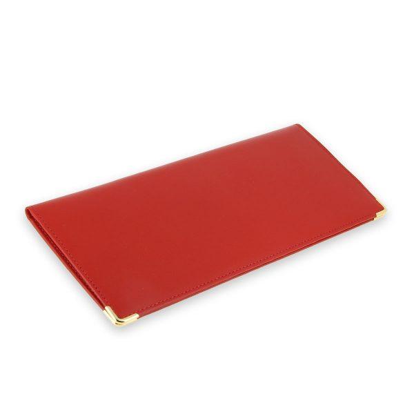 porte chequier cuir classique rouge talon gauche 2
