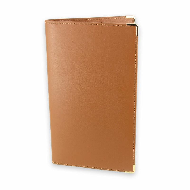 porte chequier portefeuille cuir beige gold 1